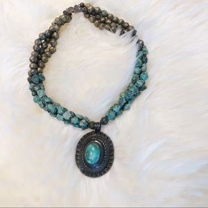 Handmade African Turquoise necklace